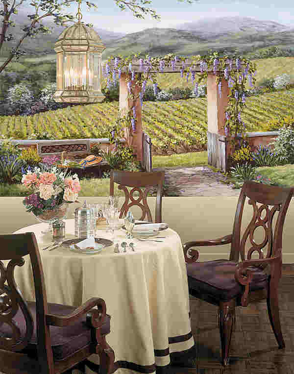 Tuscan Garden Mural 259 74045