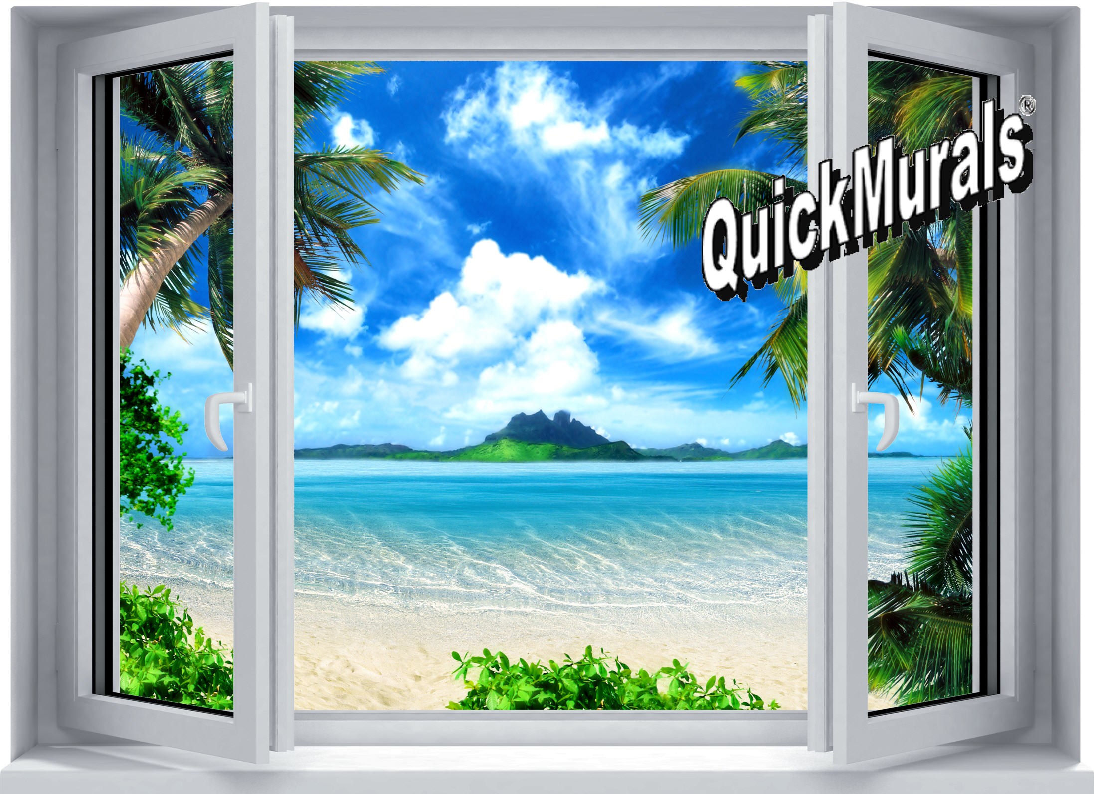 Beach mural wallpaper 2017 2018 best cars reviews for Beach window mural