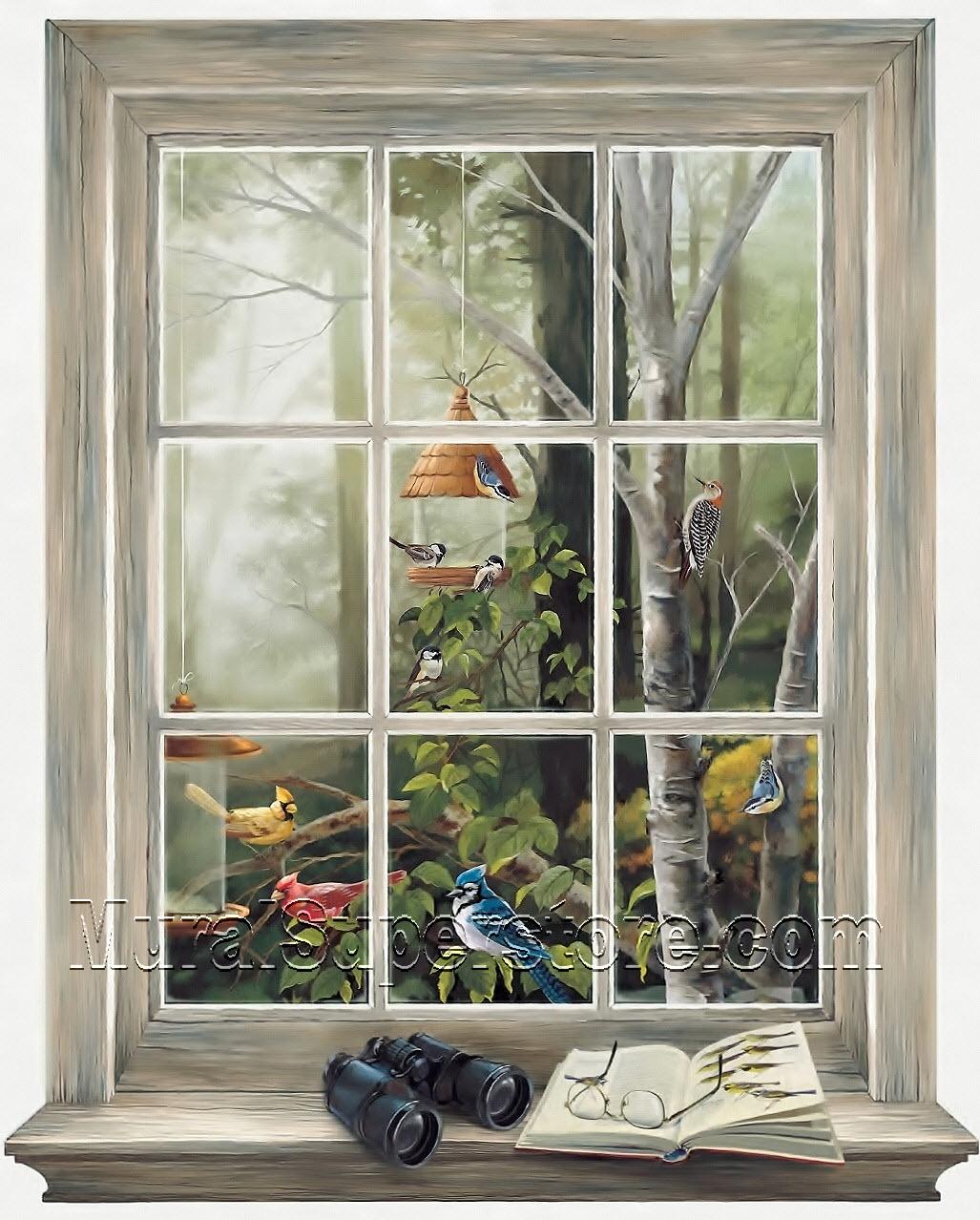 Bird Watching Window Kr2622m Mural By York