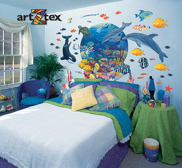 under the sea 20263 wall mural. Black Bedroom Furniture Sets. Home Design Ideas