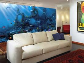Dolphin 39 s paradise wall mural c824 for Dolphin paradise wall mural