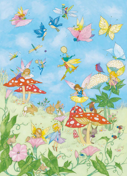 Fairy tales wall mural by ideal decor 425 for Fairy tale mural