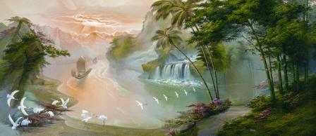 Oriental Asian Paradise PR1495 wall mural