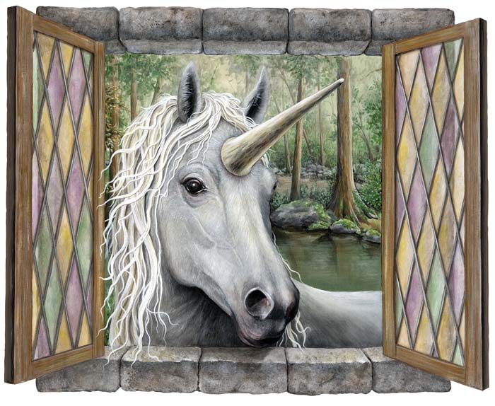 Unicorn Visitor Mural