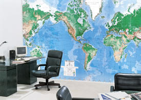 World Map wall maps murals C810