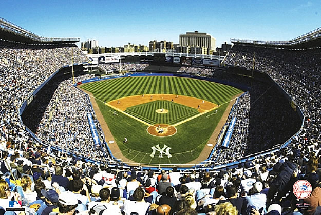 New york yankees yankee stadium wall mural for Baseball stadium mural wallpaper
