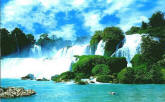 China Waterfall Wall Mural 8-057