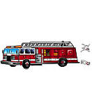 Fire truck And Dogs discount wall murals
