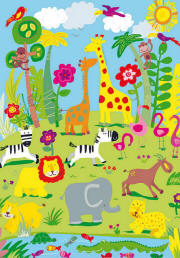 Jungle Friends Wall Mural 418 by Ideal Decor