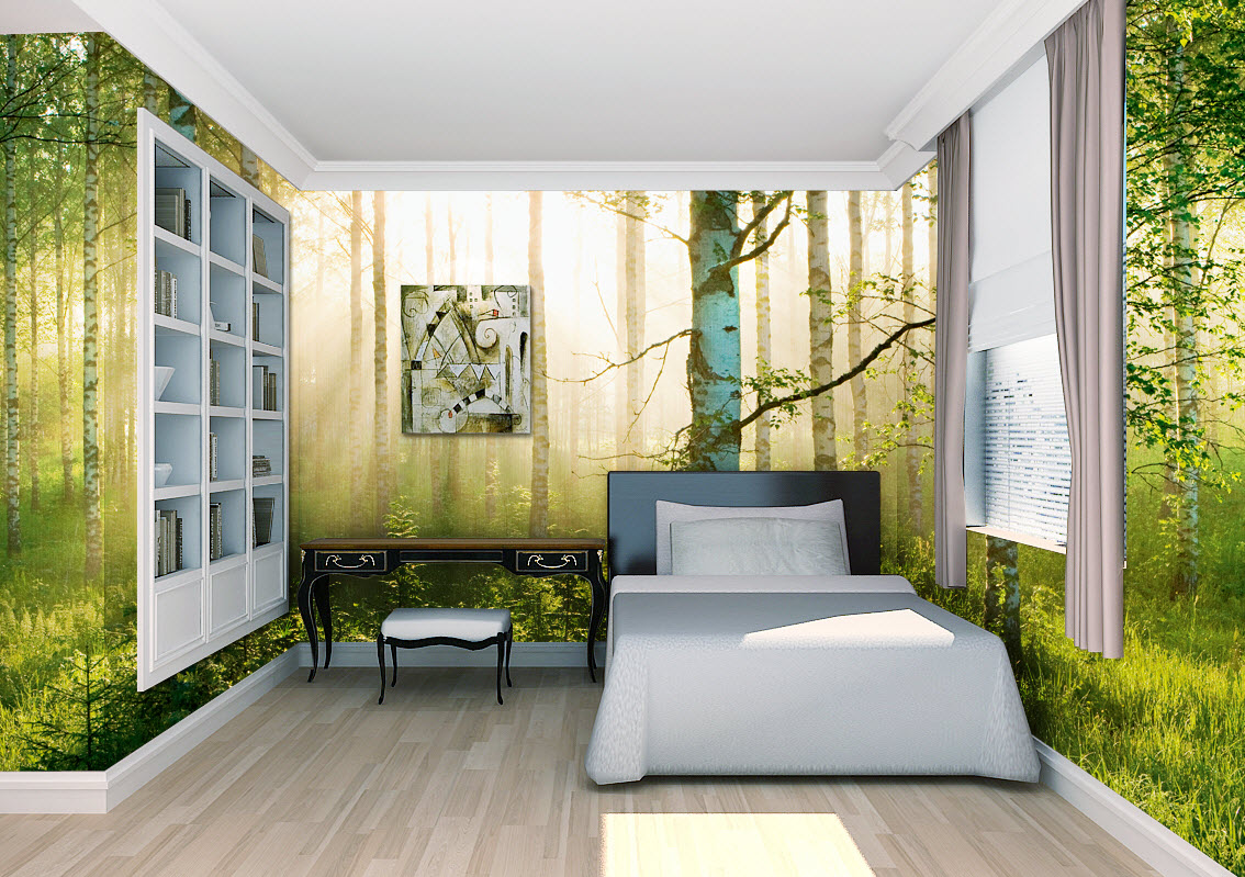 Sunlight Forest Wall Mural
