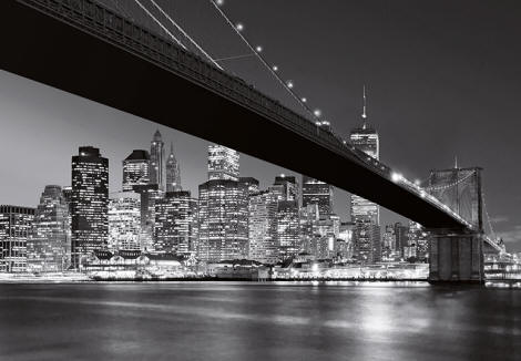 Brooklyn Bridge Wall Mural WG140 by Ideal Decor
