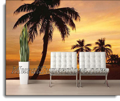 Island Sunset Wall Mural DS8023