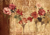 Retro Flowers Wall Wall Mural 8106