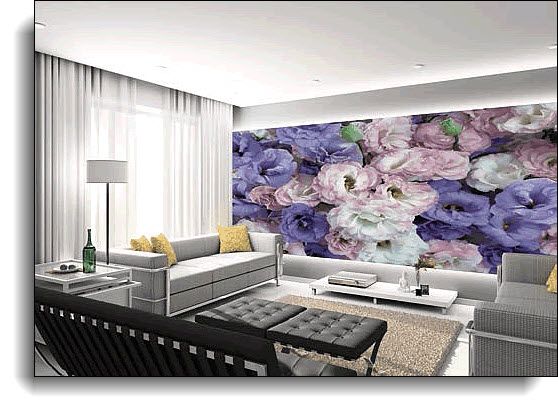 Ballon Flower Wall Mural 8171