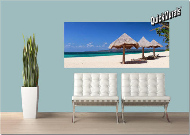 Beach Chairs Peel & Stick Wall Mural Roomsetting