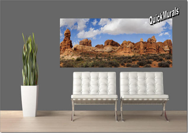 Canyonlands Park, Utah Panoramic Peel & Stick Wall Mural Roomsetting