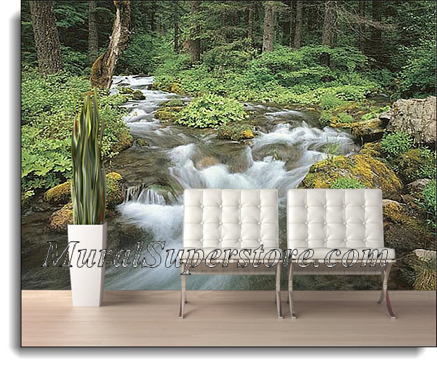 Woodland Stream Wall Mural 1876 DS8076