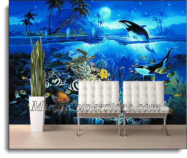 tropical fish wall mural 3934 tropical fish coral reef wallpaper wall mural by loveabode com