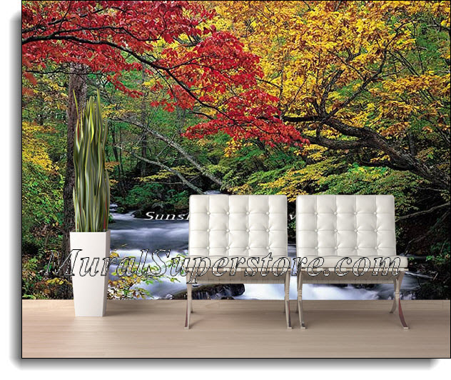 Autumn Brook Wall Mural 1826 8026