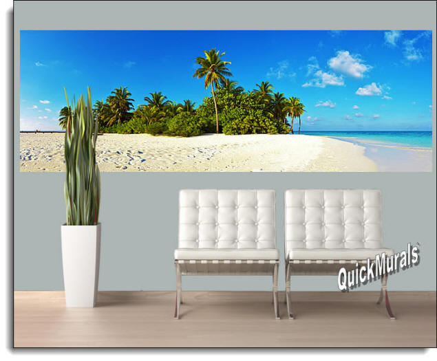 Curacao Island Peel & Stick Wall Mural Roomsetting