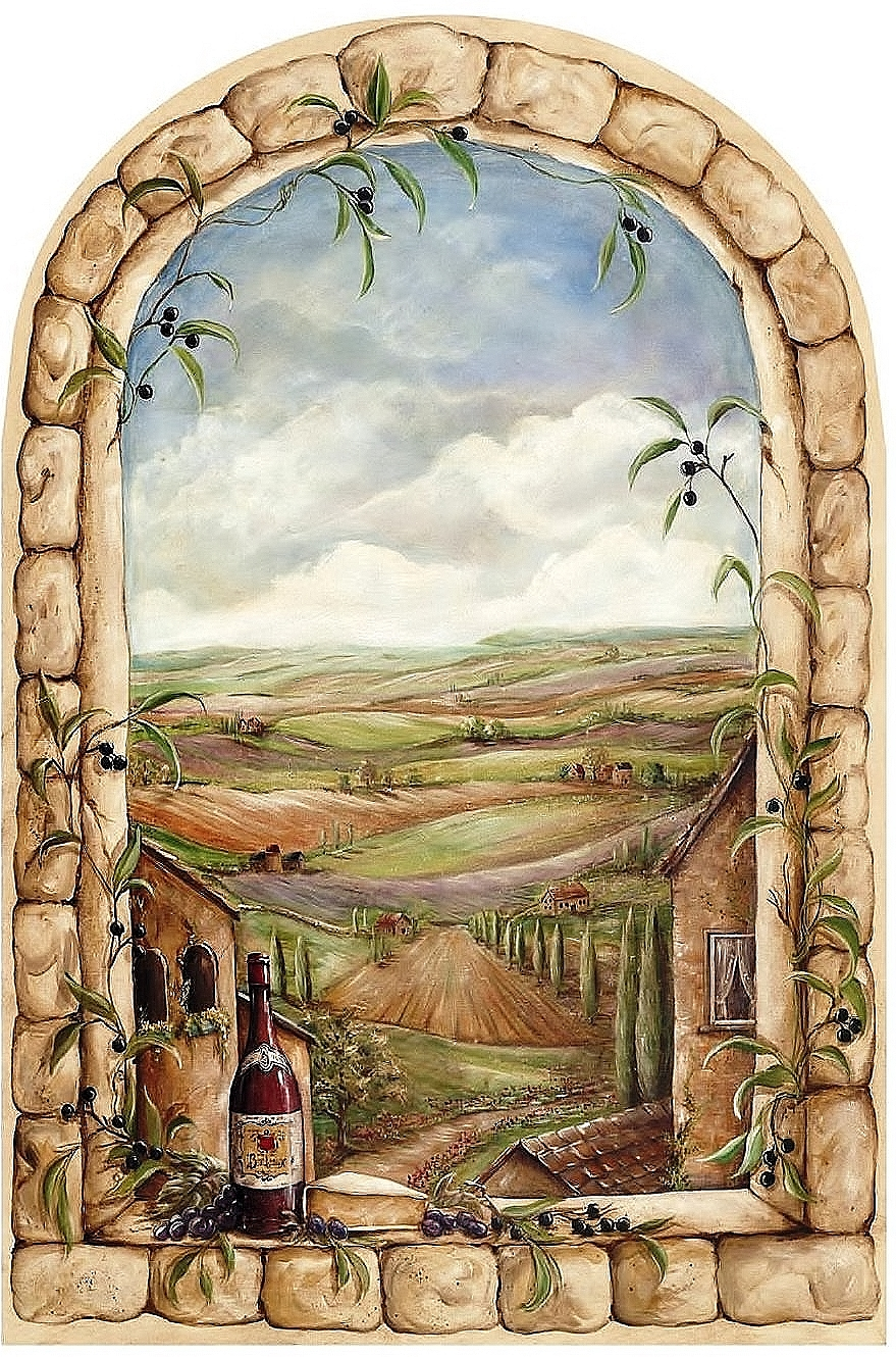 Tuscan View Window Mural Km7810m