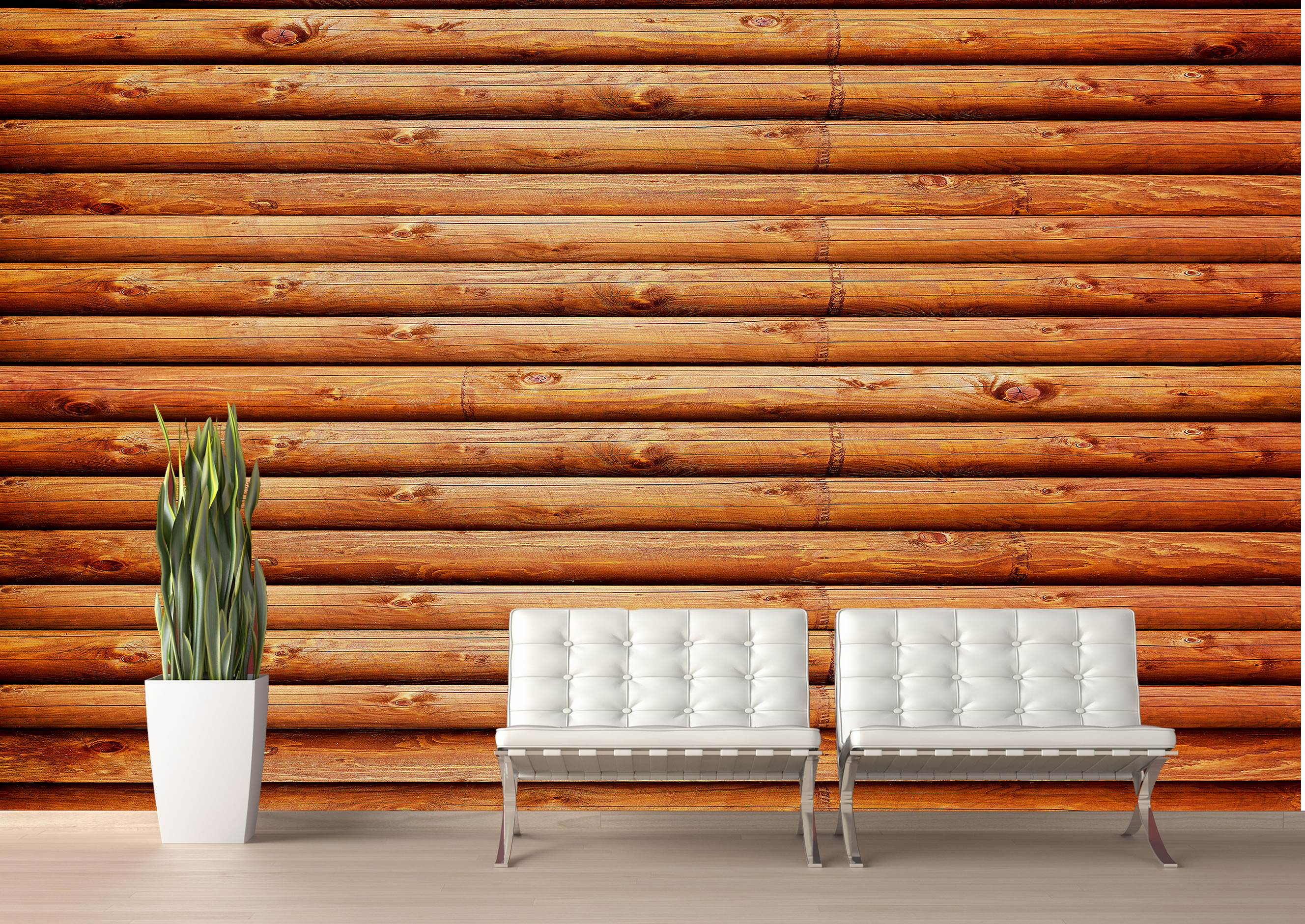 Turn Any Space Into A Rustic Lodge With This Highly Realistic Log Cabin Wall  Mural. Installs Instantly   Without Paste Or Tools!