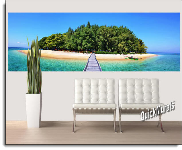 Maldives Island Peel & Stick Wall Mural Roomsetting