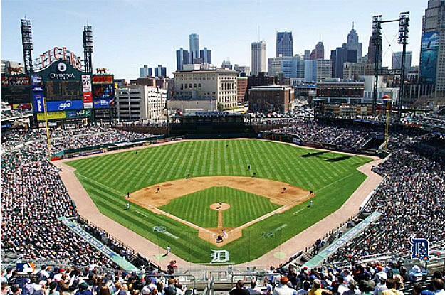 Comerica Wiring Instructions : Detroit tigers comerica park wall mural