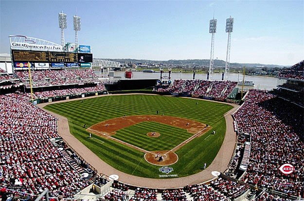 Cincinnati reds great american ballpark wall mural for Baseball stadium mural wallpaper