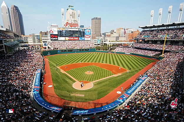 Cleveland indians jacobs field wall mural for Baseball stadium mural wallpaper
