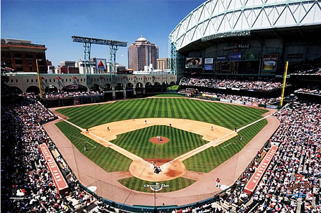 Houston astros minute maid ballpark wall mural for Baseball stadium mural wallpaper