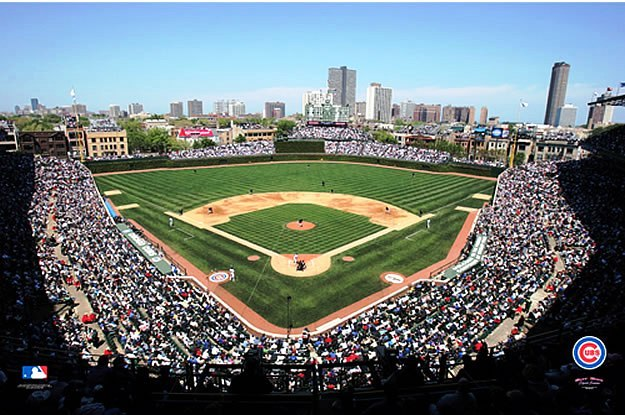 Chicago cubs wrigley field wall murals for Baseball field wall mural