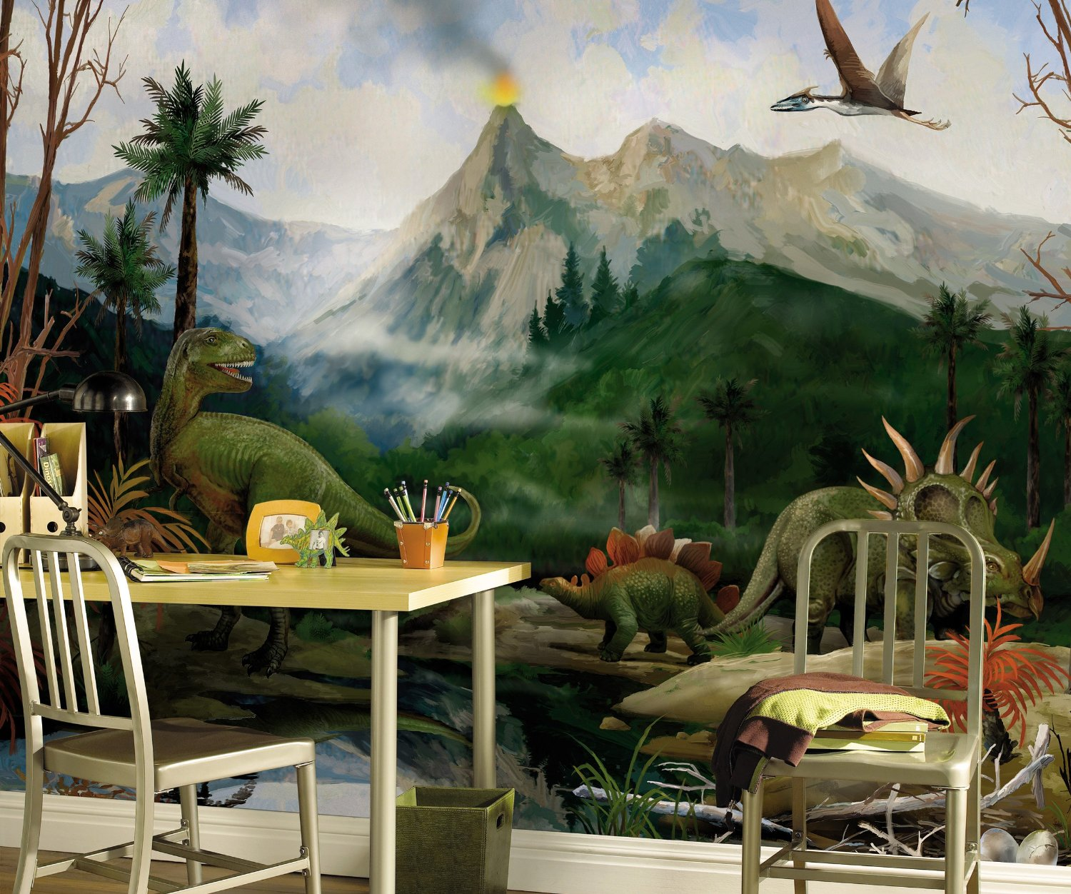 Dinosaurs Mural By Candice Olson Ck7779m Mp4975m