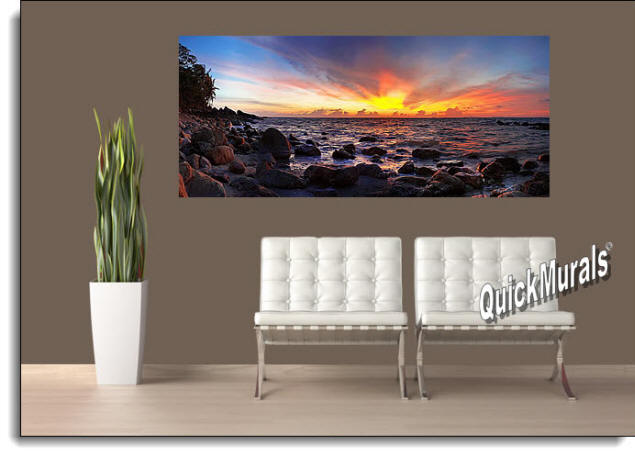 Tioman Island Peel & Stick Wall Mural Roomsetting