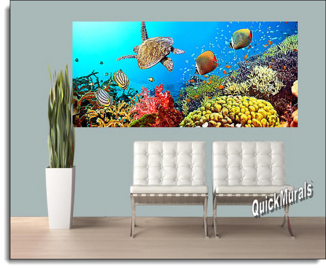 Under The Sea Peel & Stick Wall Mural Roomsetting