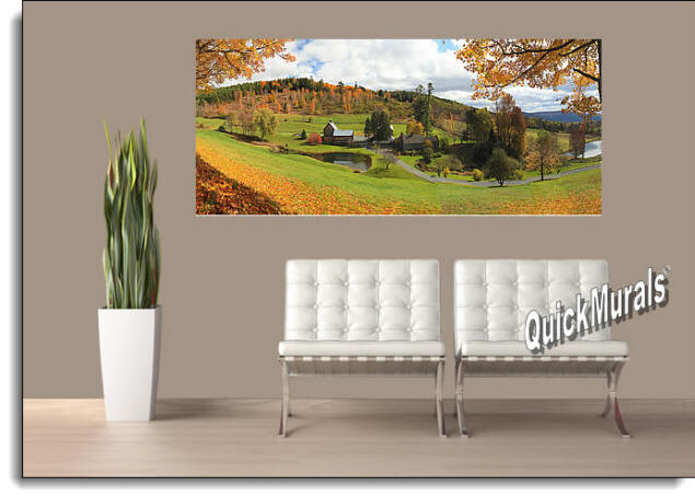 Vermont Farmhouse Peel & Stick Wall Mural Roomsetting
