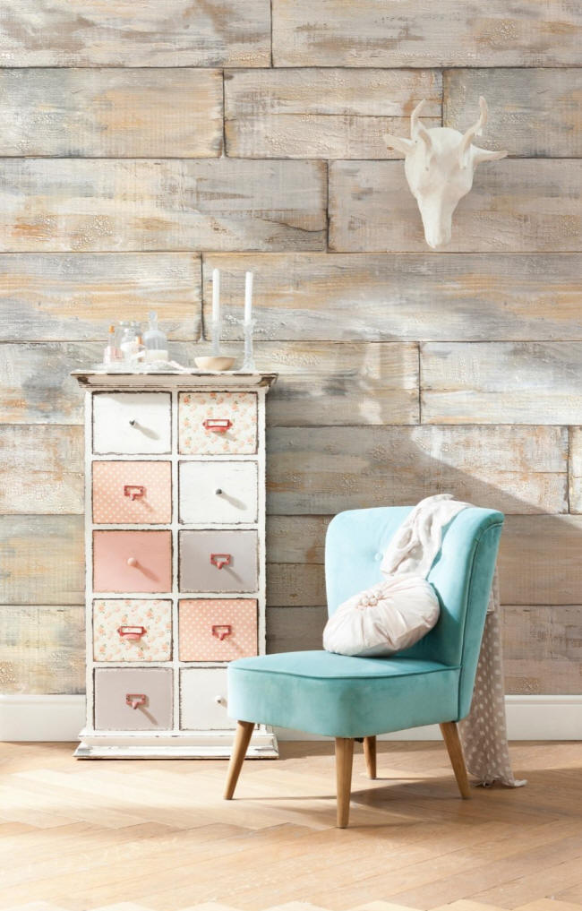 Shabby Chic Wall Mural by Komar XXL4-014 Roomsetting