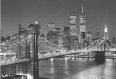 Brooklyn Bridge B & W Wall Mural 114 by Ideal Decor