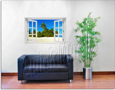 Curaco Island Window roomsetting