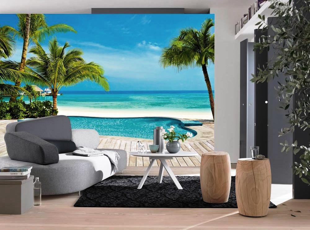 Pool Wall Mural DM127 roomsetting
