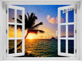 Hawaiian Sunset Window
