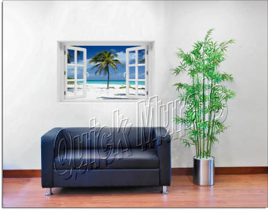 Palm Tree Window roomsetting