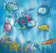 The Rainbow Fish Wall Mural 426 by Ideal Decor