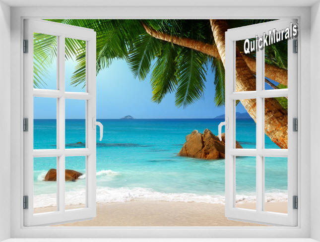 Secluded Beach Window