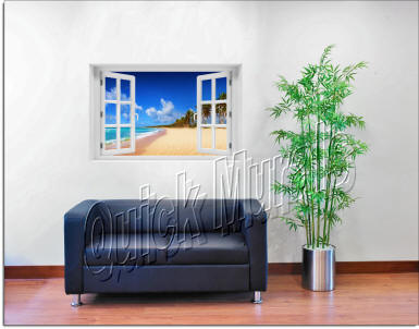 Seychelles Islands Window roomsetting