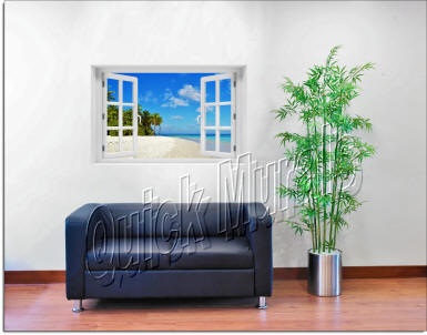 Tropical Escape Window roomsetting