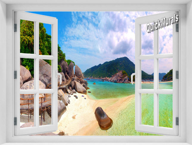 Tropical Island Window