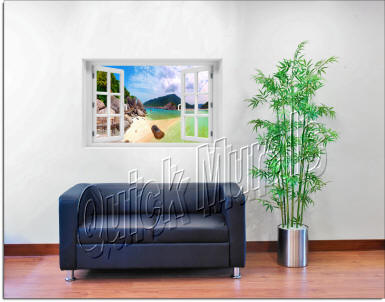Tropical Island Window roomsetting