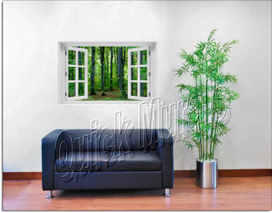 Woodland Forest Window roomsetting