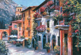 Mt. Village Scene Wall Mural 259-74051